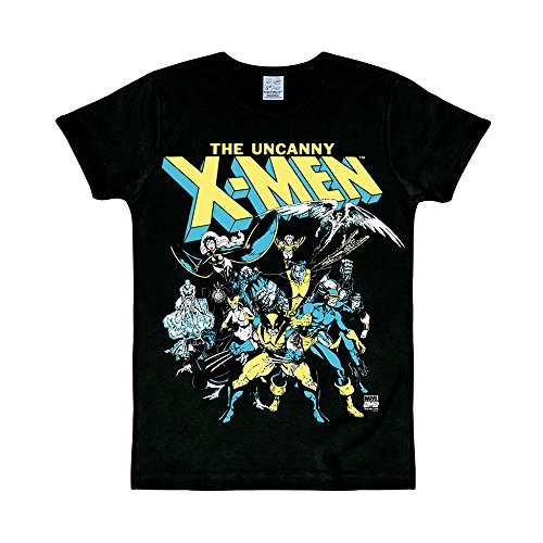 Logoshirt - T-Shirt Herren X-Men - Marvel Comics - The Group - schwarz - Lizenziertes Originaldesign, Größe XL (Wie Man Den Marvel-weg)