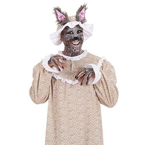 Märchenkostüme (Rotkäppchen Omakostüm Oma Märchenkostüm XL 54 Großmutter Wolfskostüm Böser Wolf Kostüm Karnevalskostüme Märchen Herren Wolfkostüm Rotkäppchenkostüm Omakostüm Kleid und)