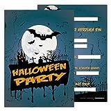Partycards 12 Einladungskarten Lustige Kinder im Set für Kindergeburtstag Halloween-Party Einladung Geburtstag Jungen Mädchen