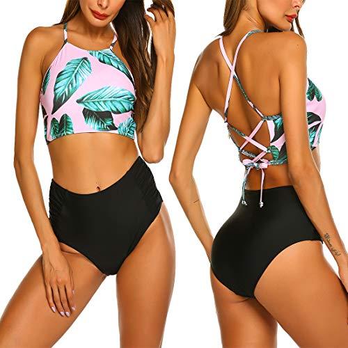 ADOME Damen Badeanzug High Waist Bikini Sexy Bademode für Mädchen Frauen Schwimmen - Sexy Bikini Für Frauen
