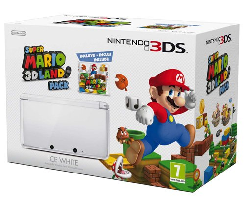 Foto Nintendo 3DS - Console, Bianco Ghiaccio con Super Mario 3D Land [Bundle]
