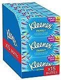 Kleenex Family - boites de mouchoirs - Grande contenance - Pack de 15