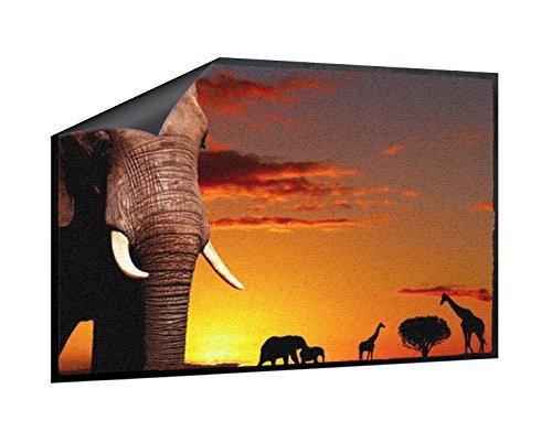 Klebefieber Fußmatte Tiere in Afrika B x H: 85cm x 60cm