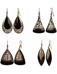 Parinaaz Jewellery Combo Of Oxidised Antique Fancy Party Wear Dangler Earrings For Girls And Women