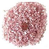 AITELEI 1 lb natürlichen weißen Kristall getrommelt Chips zerkleinerte Stein Healing Reiki Kristall unregelmäßige Geformte Steine Schmuck Machen Heimtextilien (Horse Powder)