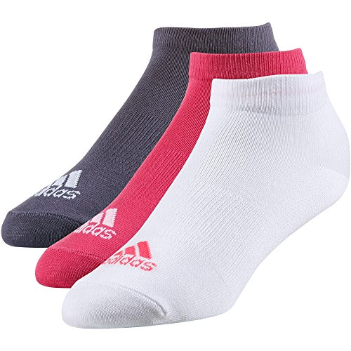 adidas Performance Thin No-Show (3 Pairs Pack) Socken, Real Pink s18/White/Trace Purple s18, 3538 (Pack 3-pair White)