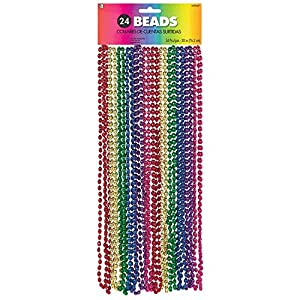 Amscan International 397479 Collares Colores Arco Iris 76 cm Fiesta, Unisex Adulto, Talla Única