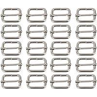 Pixnor Metall-Schnallen, Gurtversteller, Schiebeleiste, Schieber, 25mm, 20Stück