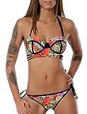 Damen Push-Up Bikini-Set (weitere Farben) No 13771, Farbe:Lachs;Größe:38 / M