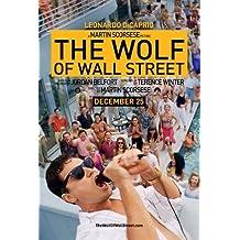 El lobo de WALL STREET - Póster con diseño de película WALL policarbonato - LEONARDO DICAPRIO 30 cm X 43 cm