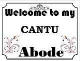 SIGNS 2 ALL Welcome to My Abode Cantu Vintage Stil Metall Wandschild (4796)–Größe ca 400mm x 300mm