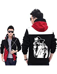 Anime Hoodie Ace Veste Cosplay Anime Costume Capuche White Beard Automne & Hiver Vêtements