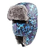 Unisexe Hiver Chapka Chapeau Fourrure Anti-vent Anti-poussière Chaud pour Ski Cyclisme d'Hiver Casquettes Bonnets Chapeaux Garder Chaud Patinage Ski Autres Activités en Plein Air