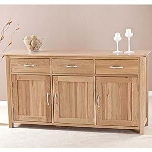 Clifton Solid Oak Furniture Living Dining Room Storage Large Sideboard Kitchen Home