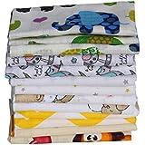 Clevere Kids Mulltücher Set 12 Stück Mix Jungen oder Mädchen Spucktücher Mullwindeln