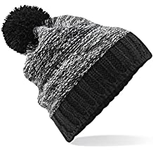 Beechfield , Bonnet tricoté avec pompon , Adulte unisexe
