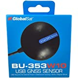 GlobalSat 05-BU353-W10 GPS GNSS Location Sensor, Windows 10 - Black