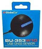 GlobalSat 05-BU353-W10 GPS GNSS Location Sensor, Windows 10 - Black