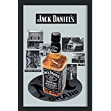 Empireposter - Jack Daniels - 1866 - Größe (cm), ca. 20x30 - Bedruckter Spiegel Bedruckter Wandspiegel mit schwarzem Kunststoffrahmen in Holzoptik
