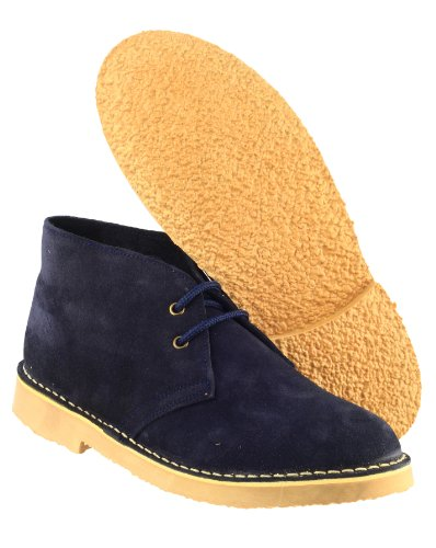 Cotswold Mens Sahara Suede Leather Casual Supported Heel Desert Boots Navy