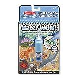 erdbeerloft Melissa & Doug - Water Wow Under The Water, wiederverwendbares Malbuch Unterwasser Ozean mit Zauber-Marker, ideal für Reisen, Blau
