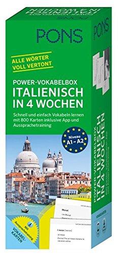 PONS Power-Vokabelbox Italienisch - Schnell und einfach Vokabeln lernen mit 800 Karten inklusive App und Aussprachetraining
