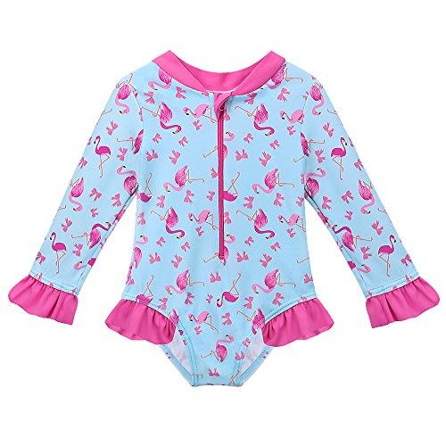 HUAANIUE Traje de baño para niñas bebés Traje de baño de Una Pieza Anti UV Natación UPF 50+ UV...