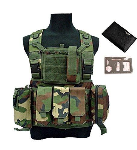 QMFIVE Táctico Chaleco Ejército Militar MOLLE Combate RRV para Asalt