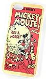 Walt Disney Mickey Mouse 'obtenir un cheval Early Edition Comic Coque pour iPhone 5/5s Blanc Coque rigide en plastique et housse