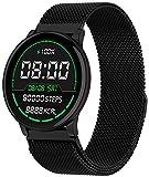 Fitness Uhr Damen mit Blutdruckmessung Schwimmmodus IP68 Wasserdicht Unix Smartwatch Herzfrequenz Schlafmonitor Andriod IOS