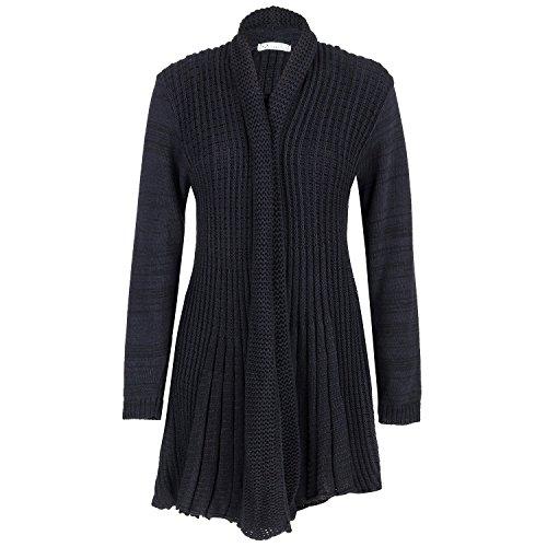 Cardigan pour femme en maille et crochet grande taille FR 444648505254 Noir - Noir