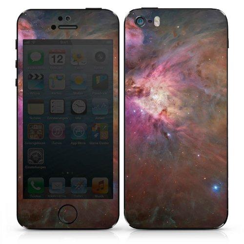Apple iPhone 5 Case Skin Sticker aus Vinyl-Folie Aufkleber Galaxy Muster Orion Nebel DesignSkins® glänzend