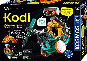KOSMOS 620042 Kodi - Tu Robot mecánico de codón, programar sin Ordenador, 5 Modelos Diferentes de Robots Montar, Robot Juguete para habitación de los niños, Caja de experimentos