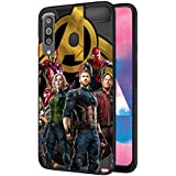 CellKraft Marvel Captain America Infinity War Printed Soft & Flexible Mobile Back Case Cover for Samsung Galaxy M30 (D499)