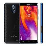 HOMTOM S12 Smartphone in Offerta, Dual SIM Telefonia Mobile 3G, Schermo da 5.0 Pollici 18:9, Android 6.0, 1GB di RAM+8GB di ROM, Fotocamera da 8MP+2MP (S12, Nero+Blu)