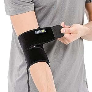 Bracoo Elbow Support, Reversible Stabiliser, Adjustable Brace, Neoprene Sleeve – Arthritic Pain Relief, Sports Injury Rehabilitation & Protection against Reinjury