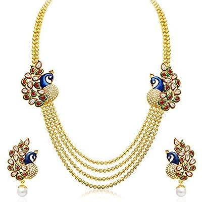 Sukkhi Wedding Jewellery Multi Strand Necklace for Women (Gold)(2191NGLDPP1560)