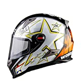 Männer Full Face Helm Moto Riding ABS Material Motocross Helm Stars XXL