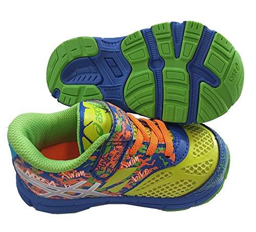 ASICS Noosa Tri 10TS enfants Chaussures, Chaussures enfant Multicolore - Gelb/Blau