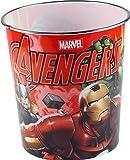 """Marvel Cestino per la carta/spazzatura, motivo """"Avengers - Iron Man"""", ideale per la cameretta dei bambini, colore: rosso"""