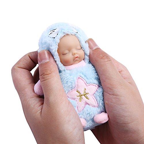 PlayMaty Mini Nette Puppen Plüsch Stuffed Schlüsselbund 12 Konstellation Schlafen Neugeborenen Puppe Handytasche Hängen Spielzeug Ornamente Acessory (Fische)