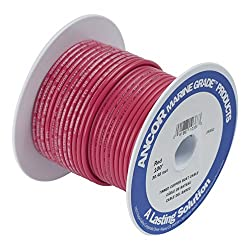 Ancor 108810 Marine Grade Electrical Primary Tinned Copper Boat Wiring (10-gauge, Red, 100-feet)