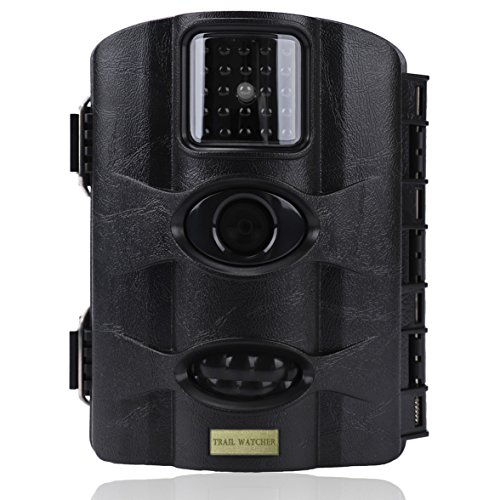 trail watcher Trail Kamera 16MP 1080P Infrarot-Nachtsicht Kamera mit 2.4in LCD 24IR-LEDs bis zu 65ft/20m IP65Wasser geschützt für Wildlife Jagd Überwachung und Farm Sicherheit