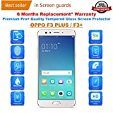 OPPO F3 PLUS / F3+ Tempered Glass Screen Protector Guard With FREE Installation Kit & Warranty