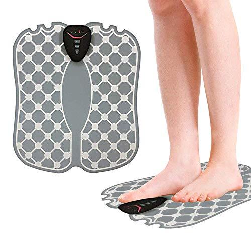 Yoogajxy Massager Elettrico del Piede, Stimolatore del Muscolo dei Piedi Tappetino di Massaggio del Piede di EMS Alleviare Il Massaggiatore di Affaticamento del Piede