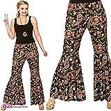 Die besten unbekannt Black Dress Pants - Ladies Black Paisley Groovy Hippie Pants Fancy Dress Bewertungen