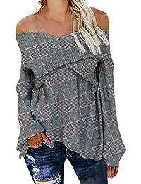 quadri camicie it T A bluse e Amazon e Bluse top shirt wqTxgn7R