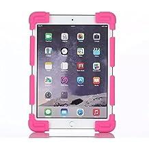 Generica - Funda Universal Silicona Soporte para Tablet de 9 a 12 Pulgadas Rosa