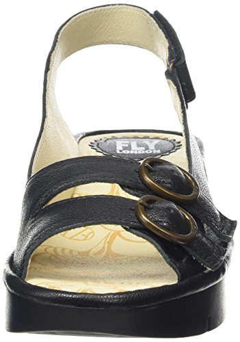FLY London Jobe 650, Sandales Femme Noir (Mousse Black)