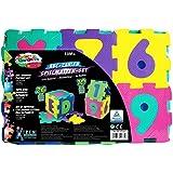 Kinder-Garden EVA 00384 - Alfombra infantil para juegos, diseño de puzzle de letras y 10 números, 36 piezas de 16 x 16 x 1 cm